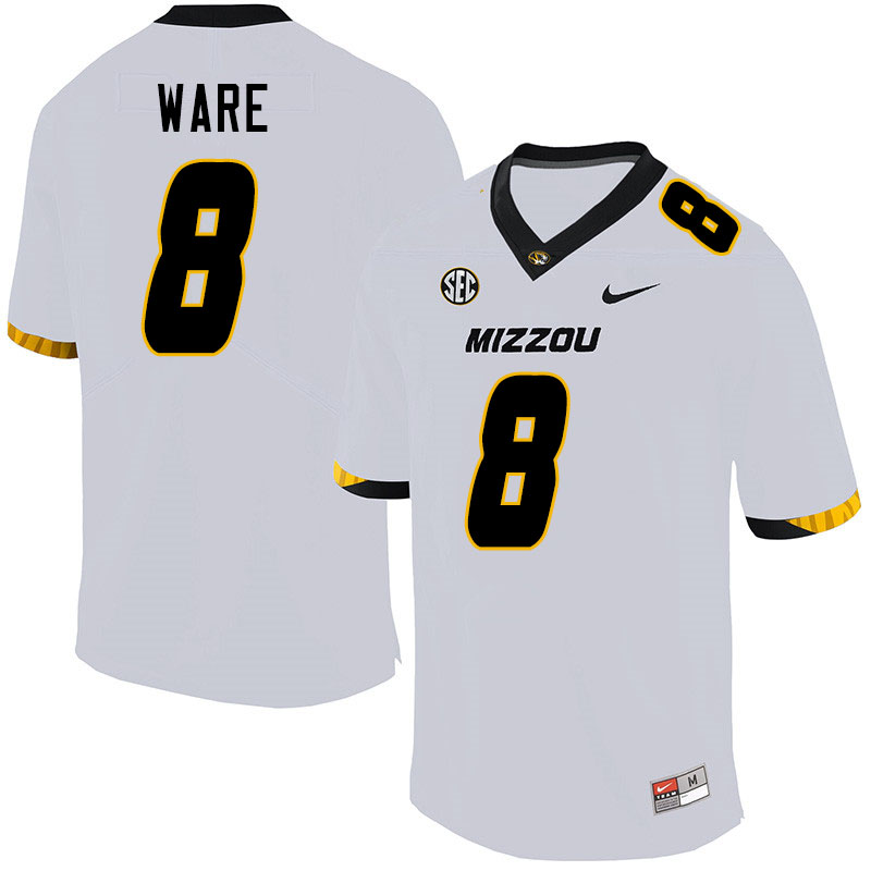 Men #8 Jarvis Ware Missouri Tigers College Football Jerseys Sale-White