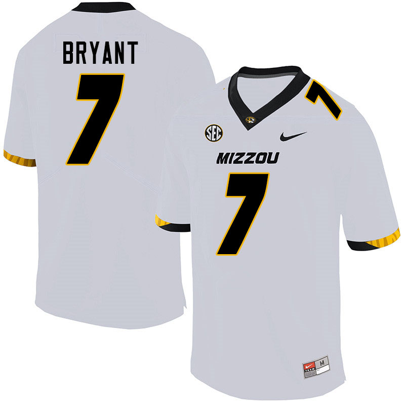 Men #7 Kelly Bryant Missouri Tigers College Football Jerseys Sale-White