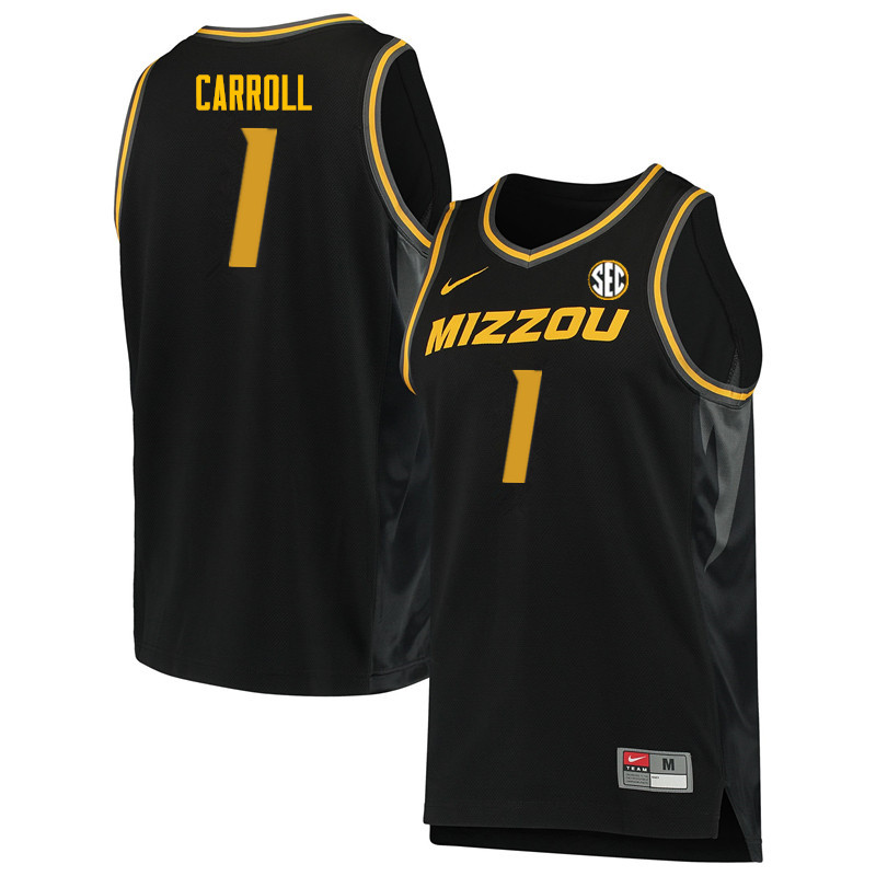 Men #1 DeMarre Carroll Missouri Tigers College Basketball Jerseys Sale-Black