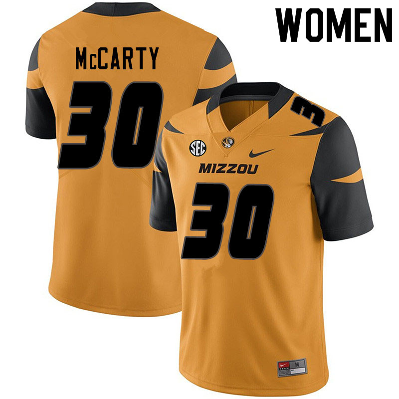 Women #30 Carson McCarty Missouri Tigers College Football Jerseys Sale-Yellow