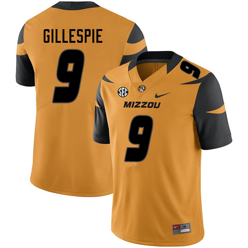 Youth #9 Tyree Gillespie Missouri Tigers College Football Jerseys Sale-Yellow