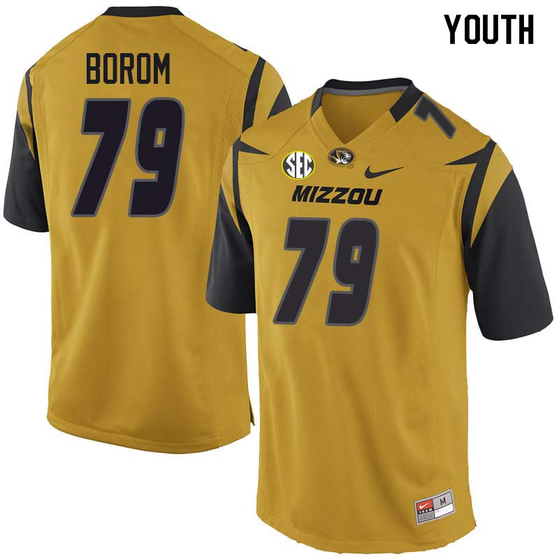 Youth #79 Larry Borom Missouri Tigers College Football Jerseys Sale-Yellow